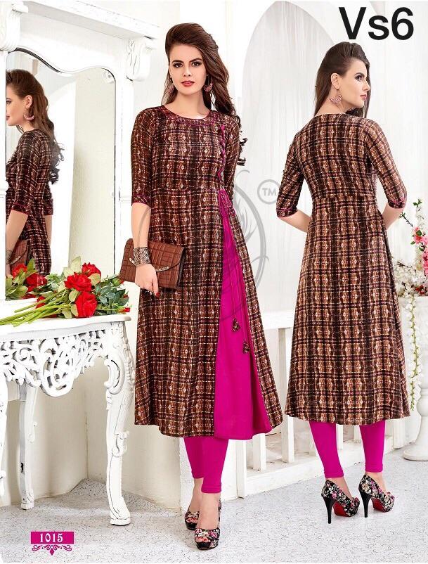 Long straight cut kurti