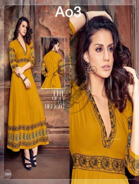Long straight kurti