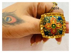 Ethnic design rings